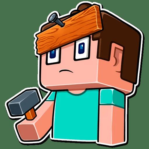 Стикеры телеграм Minecraft (Майнкрафт)