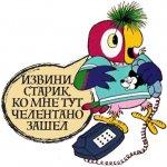 Стикеры телеграм — Попугай Кеша